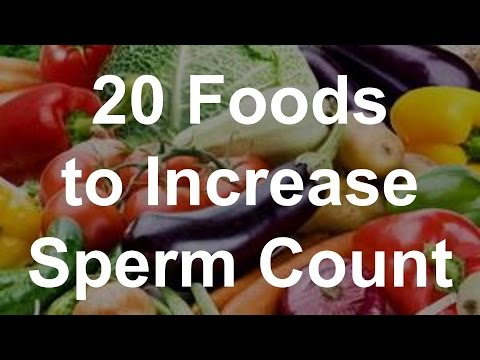 Food that will increase sperm count