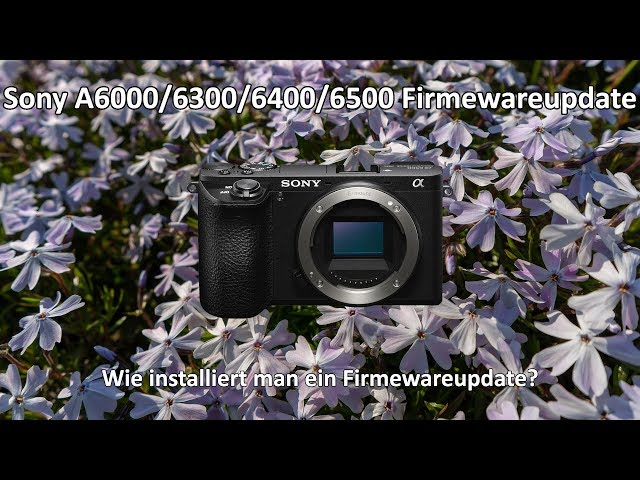 Sony A6000/6300/6400/6500 Firmeware installieren - A6500 1.06 - A6000 3.21