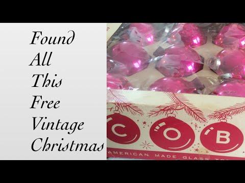 FREE Vintage Christmas!! WOW Thrift Haul.