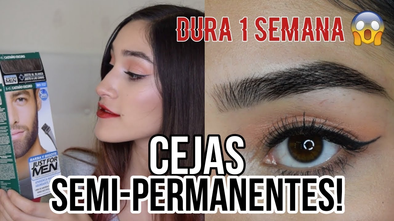 Cejas Semipermanentes Con Tinte Youtube