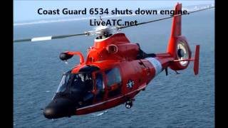 US Coast Guard HH-65 Dolphin Engine Failure Emergency Landing ATC Recording