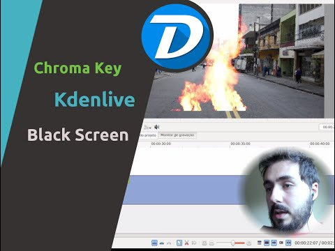 EXPLOSÃO! - Kdenlive Chroma Key (Screen Transition - BlackScreen)
