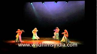 Indian classical dancers perform Kathak dance - Delhi