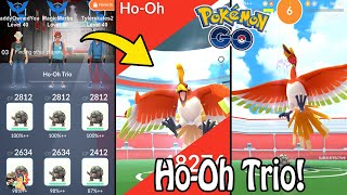 Pokémon GO | HO-OH RAID BOSS TRIO/3 MAN! (Level 5) + No Weather Boost! | Legendary Gym Raids Ep. 45
