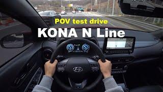 2021 Hyundai Kona N line 1.6 T-GDi AWD POV test drive