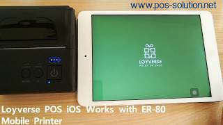 Loyverse pos has android version and ios version, eastroyce mobile printer works perfectly with version. it is best choice to run your own b...