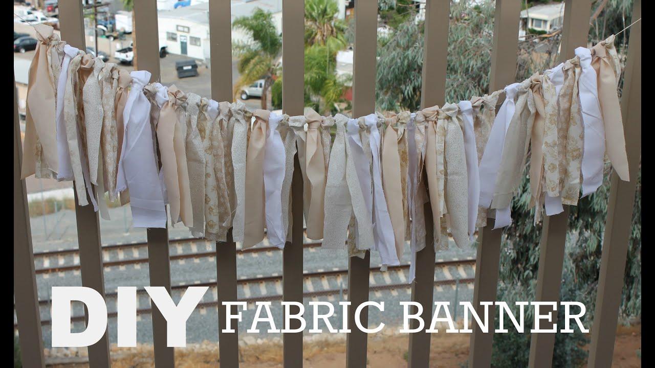 Diy Wedding Word Banners: DIY Fabric Banner