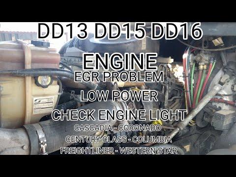Freightliner Cascadia DD13 DD15 DD16 EGR problem low power derate spn 2631  fmi 1