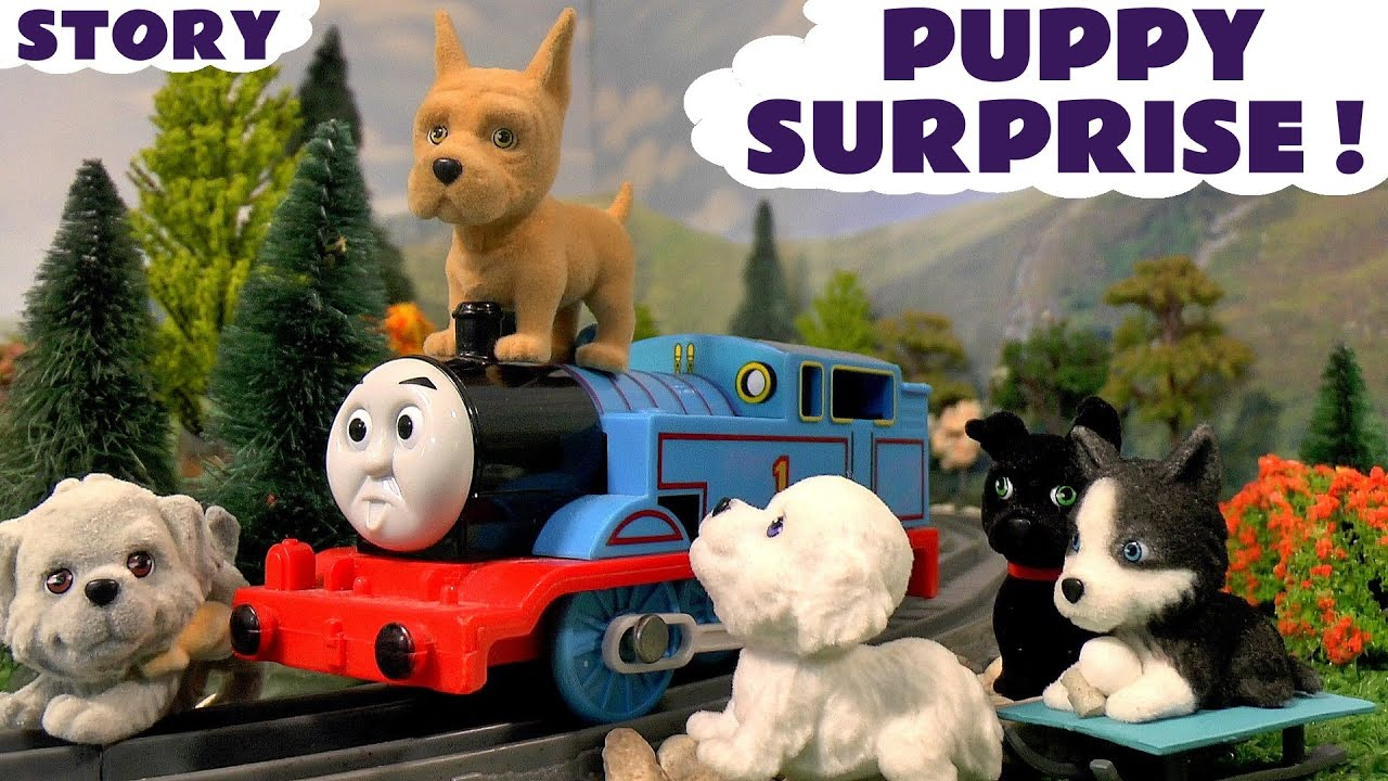 Thomas and Friends Family Fun with Surprise Toys for kids Puppy In