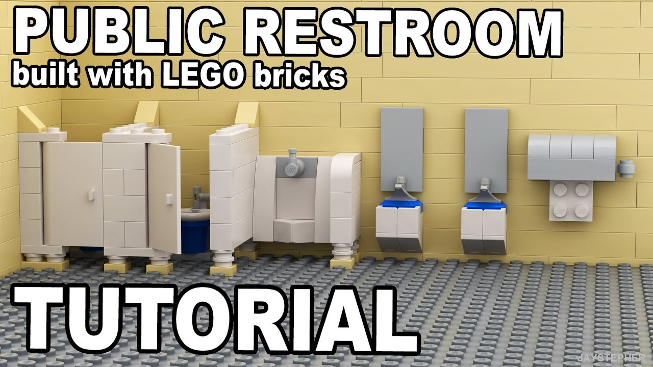 Tutorial lego public restroom cc youtube for Bathroom designs minecraft