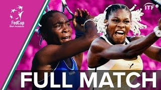 Young Venus and Serena Williams in First Fed Cup Final v Russia | Fed Cup Final 1999 | USA v Russia