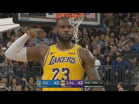 LeBron's Lakers vs Warriors! Lonzo Ball Returns! 2018 NBA Preseason