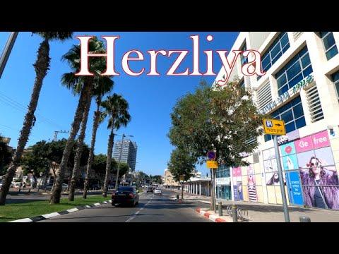 4K Herzliya Driving In Israel 2020 נסיעה בהרצליה ישראל