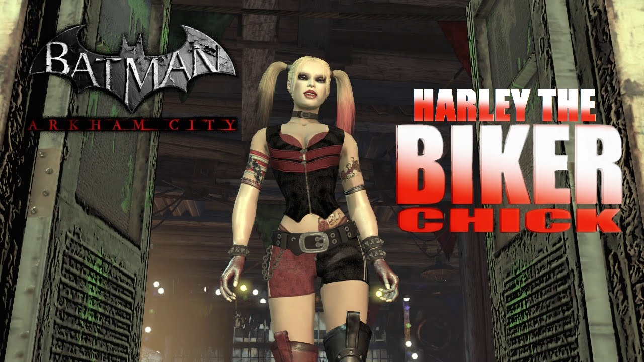 SKIN; Batman; Arkham City; Biker Chick Harley - YouTube