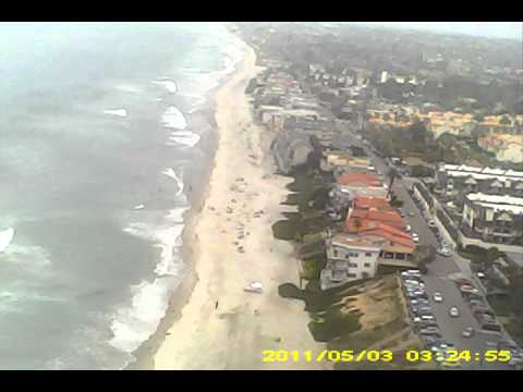 Carlsbad, Ca. beach remote control airplane with video