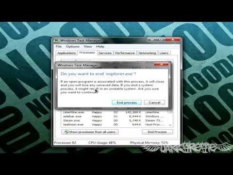 Windows 7: How to Restart Windows Taskbar