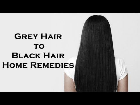 Natural Black Hair - 3 Miraculous Beauty Tips To Turn Grey Hair Into Natural Black Hair