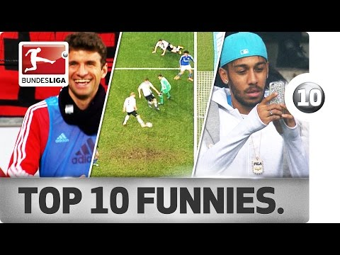 Top 10 funniest moments - 2015/16