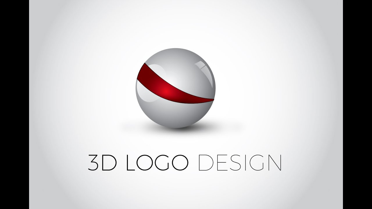 3D Glossy Ball Logo Design : Illustrator Tutorial - YouTube