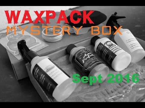 WAXPACK Mystery Box opening Sept 2016