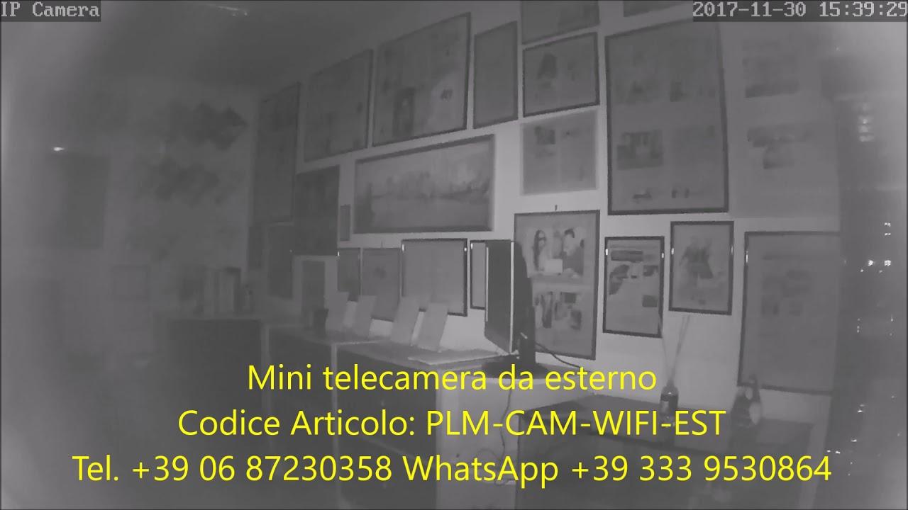 Telecamera Nascosta Da Esterno : Mini telecamera wifi da esterno con infrarossi plm cam wifi est
