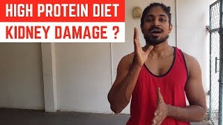 High protein diet & Kidney damage ?