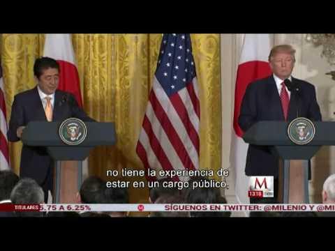 Se reúnen Donald Trump y Shinzo Abe en EU - Milenio Televisión
