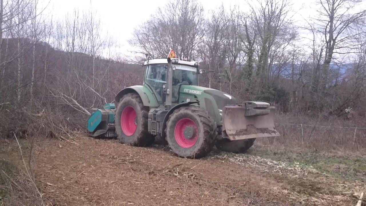 tracteur forestier gyrobroyeur