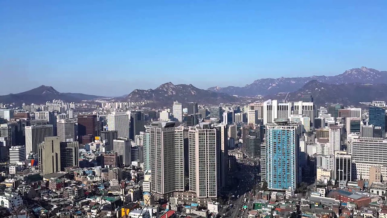 Seoul City View From Namsan Park Youtube