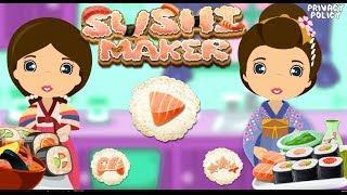 Sushi maker Kids Cooking Game Gameplay Walkthrough