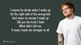 Gambar cover Drunk - Ed Sheeran (Lyrics) 🎵