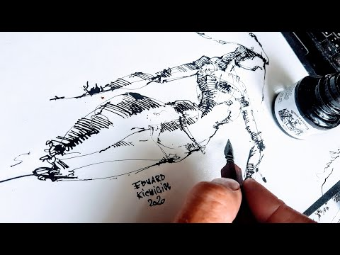как нарисовать фигуру человека Графика, рисование и скетчинг. Эдуард Кичигин