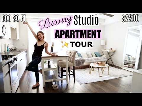MY LA LUXURY STUDIO APARTMENT TOUR! + Amenities | $2200 / 800 SQ FT