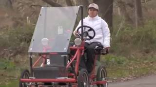 Electric 4 wheel bicycle