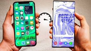 iPhone 12 Pro vs Samsung Galaxy Note 20 Ultra - Speed Test