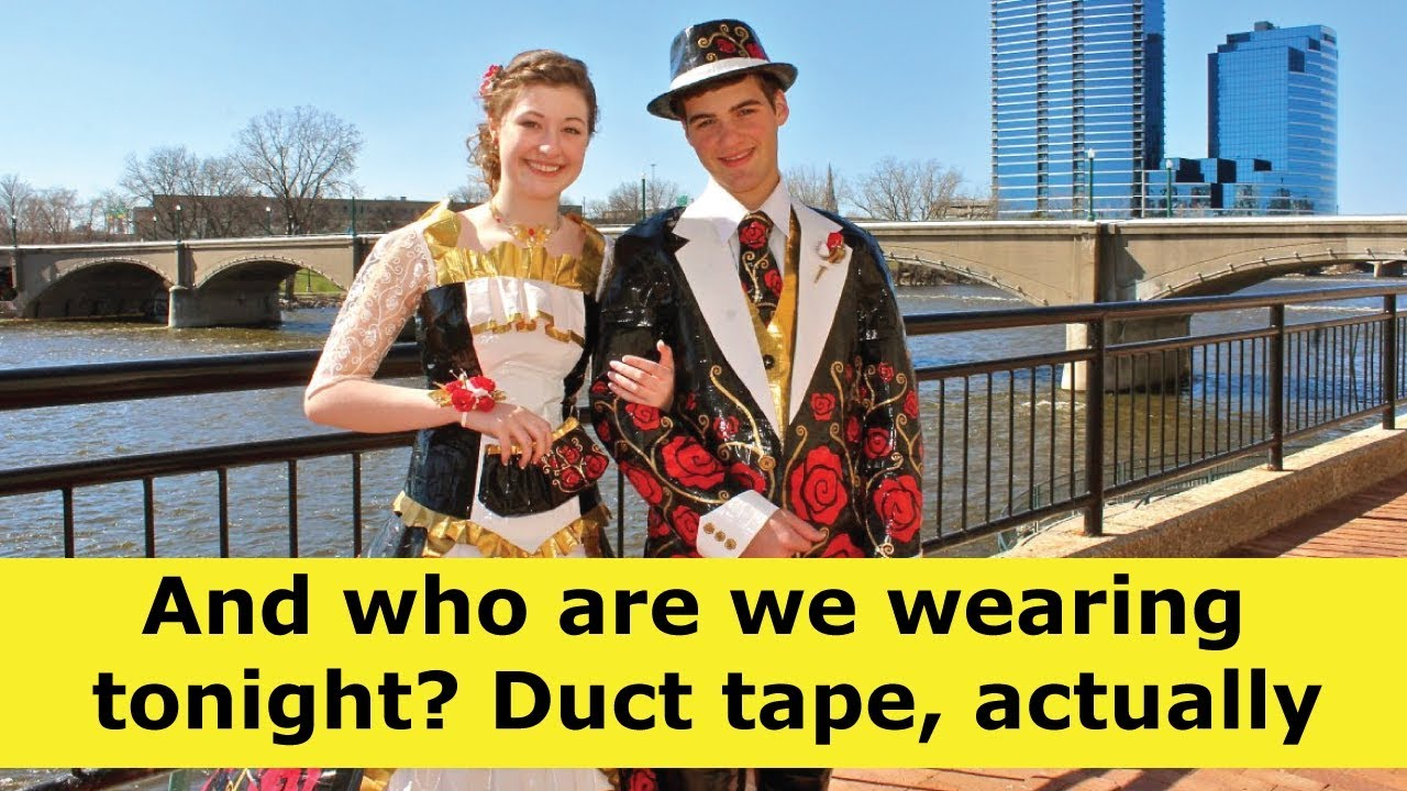0f0e132ee8f147 Making your own prom dress or dress? Duct Tape? - YouTube