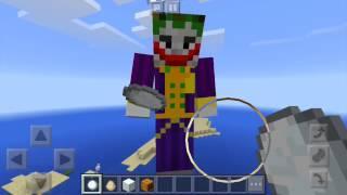 Maincraft-Joker and Harley queen make a snowman.