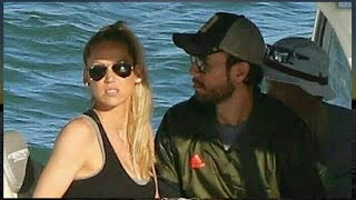 Enrique Iglesias & Anna Kournikova Boat Ride #familytime