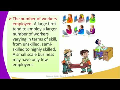 Form3 Business Studies Lesson8 Size and Location of a firm Size of a firm