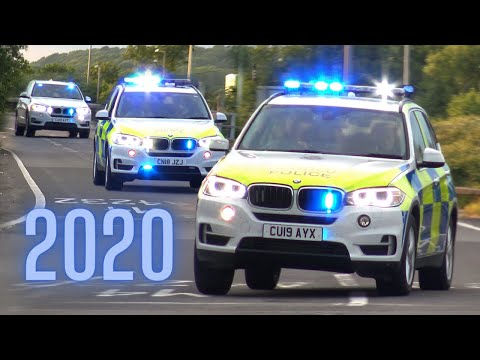 UK POLICE IN ACTION!! - BEST OF 2020 - Police Cars Responding, Unmarked Cars & ARMED Convoys!