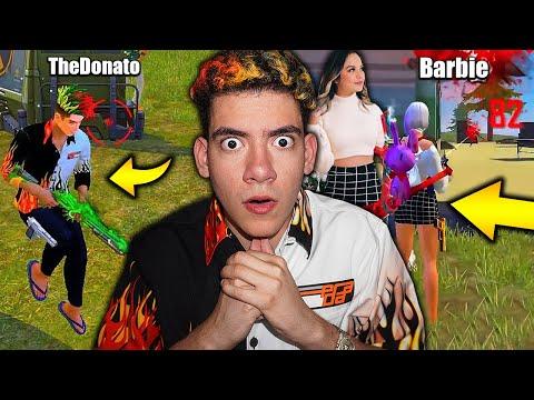 MI NOVIA Y YO TENEMOS SKINS EN FREE FIRE *impresionante* - TheDonato y Barbie
