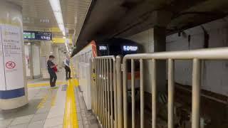 東京メトロ有楽町線17000系01F各駅停車和光市行き市ヶ谷駅発車