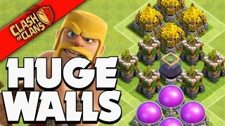 "Clash of Clans: ""MOST WALLS EVER!"" WE SPENT IT ALL"