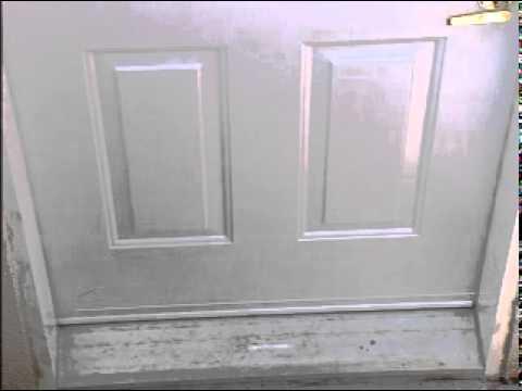 How To Install Weatherstripping Wrap Around Vinyl Door Bottom Youtube