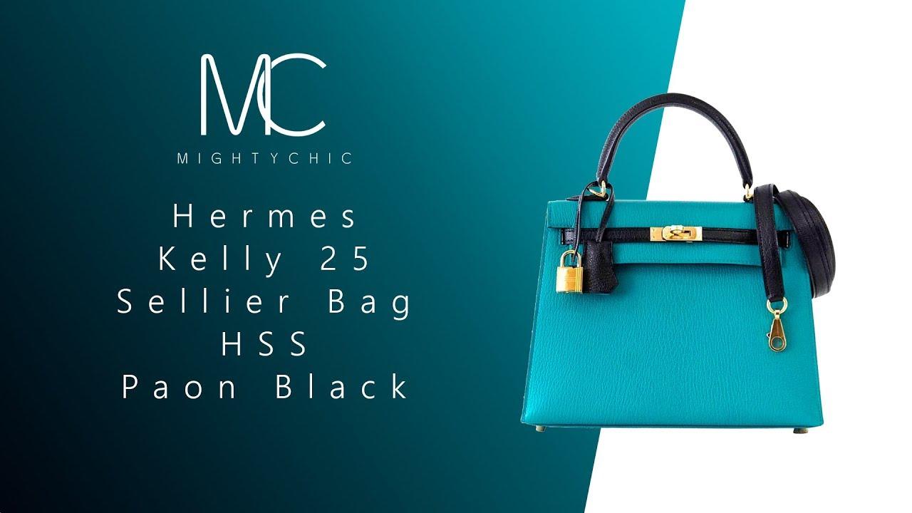 f895ffc8a342 ... new zealand mightychic u2022 hermes kelly 25 sellier bag hss paon black  1b80f 62cf4