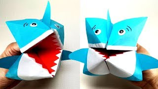DIY Origami Baby Shark Puppet
