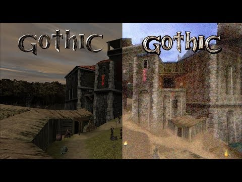 Gothic/Alpha - side by side comparison