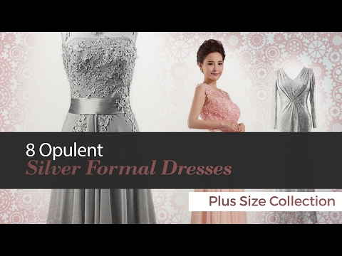 8 Opulent Silver Formal Dresses Plus Size Collection