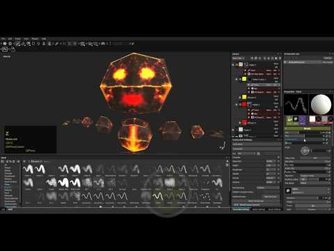 Rock Lava Monster | low poly character modeling | 3dsmax substance painter