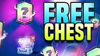 FREE CHEST = LEGENDARY CARD!?   CLASH ROYALE